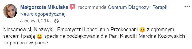 Opinia Pani Małgorzata
